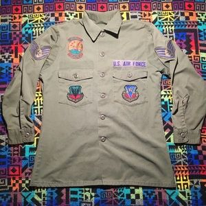 Other - Vintage 1950s USAF Uniform Button Down